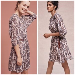 Floreat Anthropologie Zharah Peasant Boho Dress
